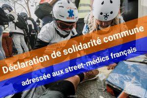 Déclaration commune des street-médics allemands adressée aux street-médics français dans le cadre des manifestations des Gilets jaunes