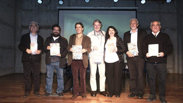Autores de las publicaciones presentadas esta tarde en el Foro Humanista Latinoamericano, en Santiago de Chile