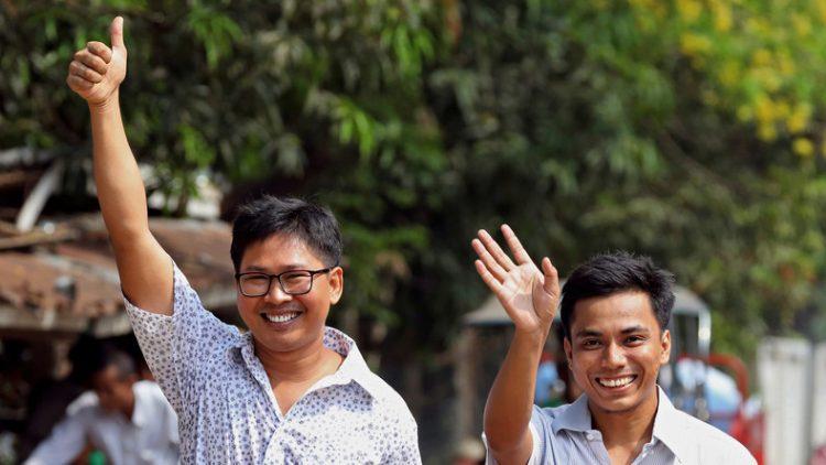 Reuters Journalisten in Myanmar freigelassen