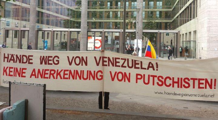 Proteste gegen die Lateinamerika- und Karibik-Konferenz in Berlin