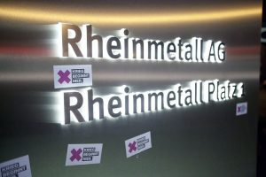 Lebenslaute probt für Blockade von Rheinmetall