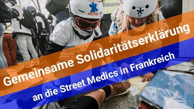 Solidarität mit den Street Medics in Frankreich und den Gelbwestenproteste