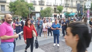 """Humanist Party campaign event in Madrid: """"We need to build a new model of society""""."""