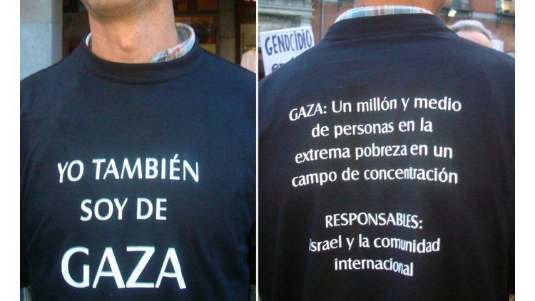 Gaza, maglietta solidale