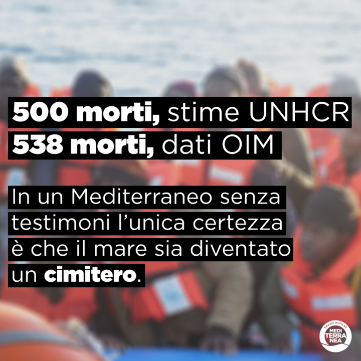 Appello a Mattarella per fermare l'ecatombe nel Mediterraneo