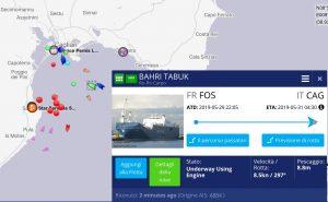 La Bahri Tabuk a Cagliari: sosta imprevista e non dichiarata per caricare bombe?