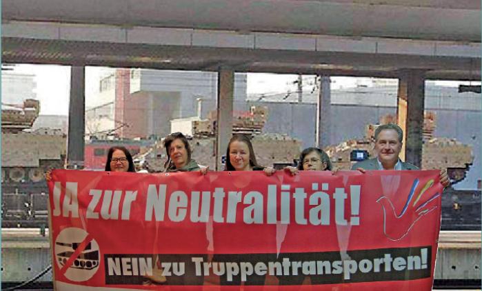 Stop NATO-Transporte