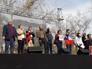 Nueva marcha docente en Santiago de Chile
