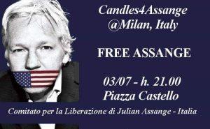 Candele per Assange – Candles4Assange @Milan, Italy