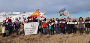 Caravana contra la base de Estados Unidos en Neuquén
