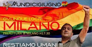 """Presidio per Mimmo Lucano a Milano. """"Restiamo umani"""""""