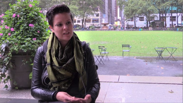 Women's International League for Peace and Freedom, interviewed for The Beginning of the End of Nuclear Weapons, Sept 26, 2018, Bryant Park, New York
