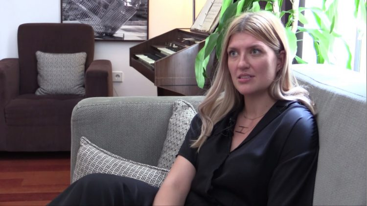 Beatrice Fihn, Executive Directo, International Campaign to Abolish Nuclear Weapons, interviewed for The Beginning of the End of Nuclear Weapons, in Madrid, 27 June 2018