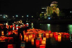 Anniversario del bombardamento nucleare su Hiroshima: catena umana in Val di Cecina