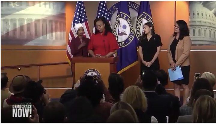 """Our Squad Is Big"": Reps. Ocasio-Cortez, Omar, Tlaib and Pressley Condemn Trump's Racist Attack"