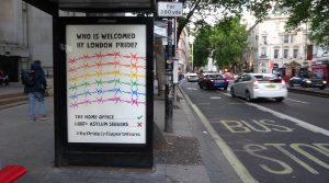 LGBT+ activists hack bus stop adverts to protest 'exclusionary' London Pride