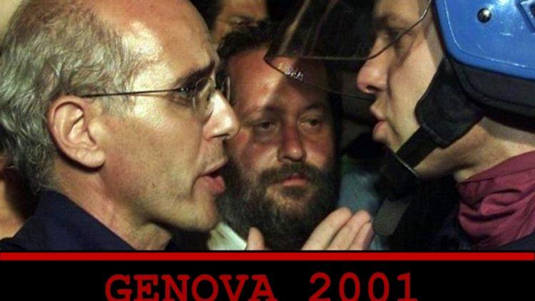 Vittorio Agnoletto durante il G8 di Genova 2001