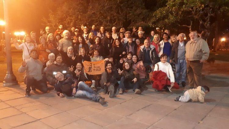Silo in Jujuy, Argentinien, Gedenkfeier an einem historischen Ort des Siloismus