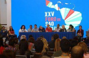 Caracas alberga la vigésima quinta edición del Foro de Sao Paulo