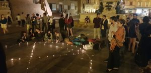 Tutto in una notte, azione di Extinction Rebellion a Bologna