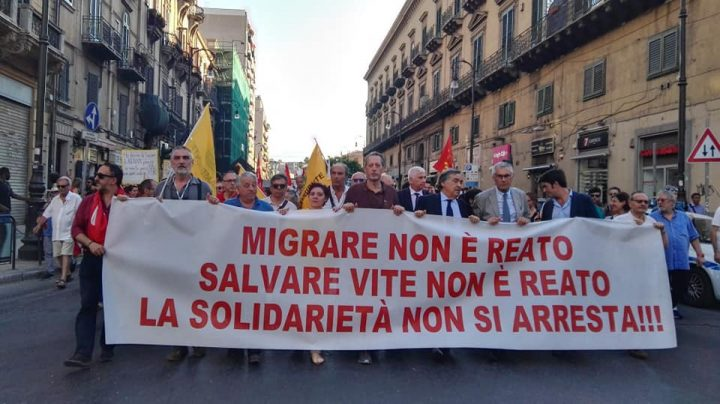 Carola is free. Solidarity march in Palermo