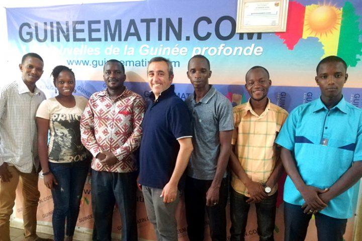 [Conakry] Guineematin y Pressenza, una nueva asociación para expandir la construcción de una red global de medios de comunicación
