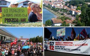 [Contre-sommet G7] Manifestation massive d'Hendaye à Irun : « Les alliances qui se construisent entre mouvements sociaux, environnementaux ou féministes sont décisives pour l'avenir »