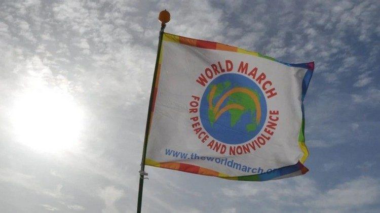 Nach 10 Jahren wird findet der 2. Weltmarsch für Frieden und Gewaltfreiheit gefeiertstatt