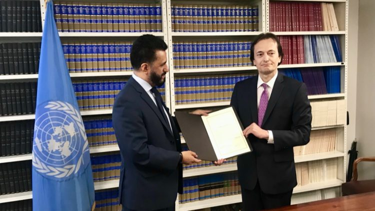 Bolivia delivers its Instrument of Ratification of the TPNW, 6th August, 2019