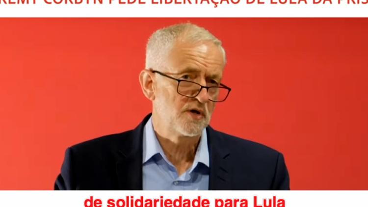 """Jeremy Corbyn: """"La prison de Lula est totalement inacceptable"""""""