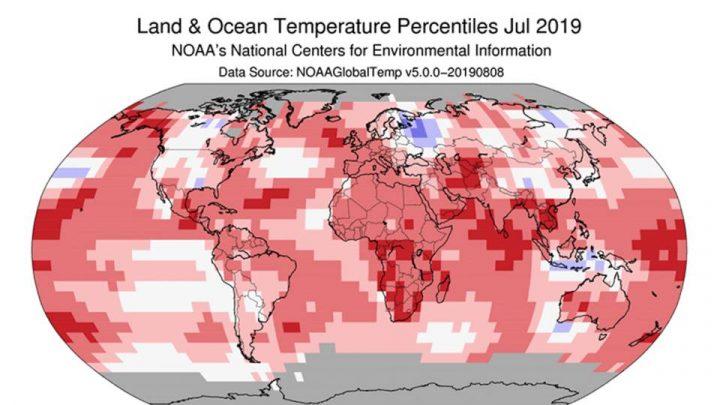 Julio fue oficialmente el mes más caluroso de la historia