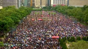 Largest Hong Kong Protest in Weeks Defies Threats. Intimidation by China