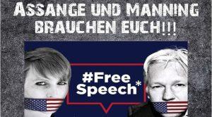 Mahnwache für Julian Assange jeden Mittwoch vor dem Brandenburger Tor