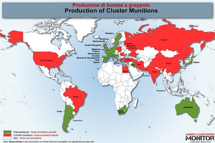 Rapporto 2019 su produzione mine e bombe a grappolo
