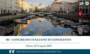 A Trieste l'86esimo congresso italiano di Esperanto