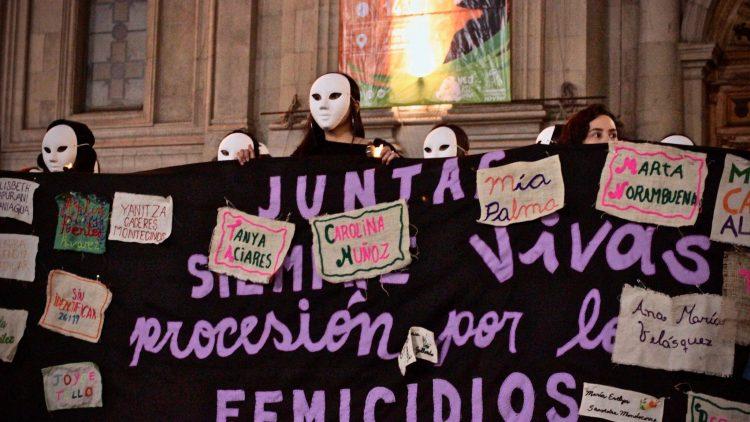 femicidios procesión santiago chile 9 agosto 2019