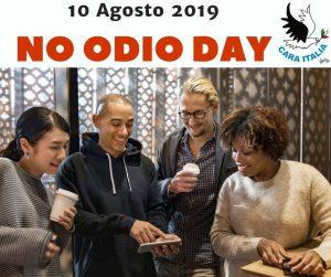 Cara Italia lancia il No Odio Day sui social il 10 agosto 2019