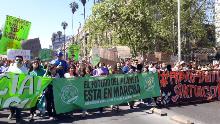 Au Chili aussi, une manifestation contre le changement climatique