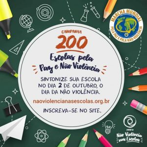 200 escolas pela paz e não violência