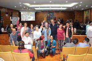 El gobierno del Distrito Metropolitano de Quito se compromete con Octubre por la paz y la Noviolencia