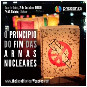 """02 de octubre: Estreno en Lisboa """"El Principio del Fin de las Armas Nucleares"""""""