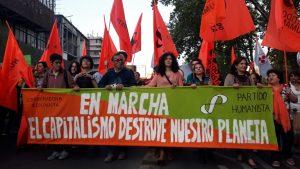 Chili, marche contre le changement climatique de la planète