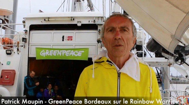 [Interview vidéo] Patrick Maupin de Greenpeace. Accueil au bateau Rainbow Warrior III