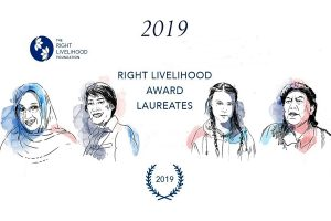 2019 Right Livelihood Award to be Presented in Stockholm 4 December