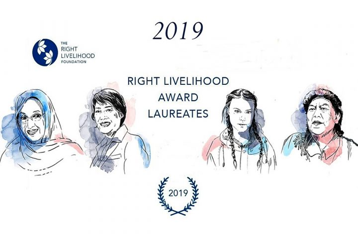 2019 Verleihung des Right Livelihood Award in Stockholm am 4. Dezember
