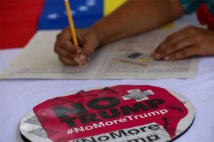 Continua na Venezuela coleta de assinaturas contra bloqueio dos EUA