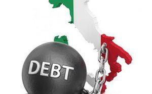 Italia, deuda pública: 40 mil euros por cabeza