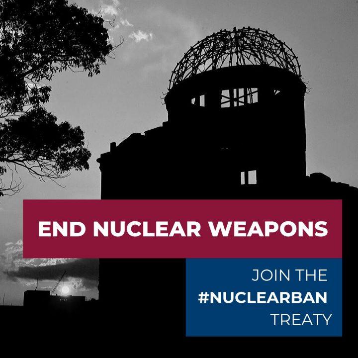 L'Italia firmi subito il Trattato di Proibizione delle Armi Nucleari