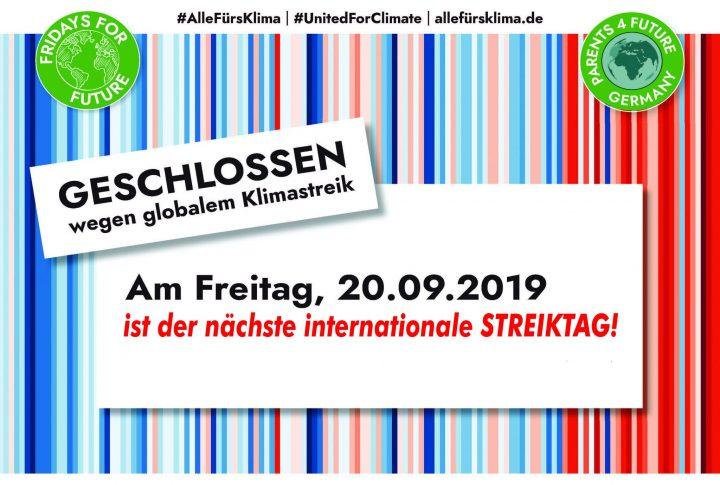 Parents for Future rufen Unternehmen, Organisationen und Bildungseinrichtungen zur Teilnahme am globalen Klimastreik am 20.09.2019 auf