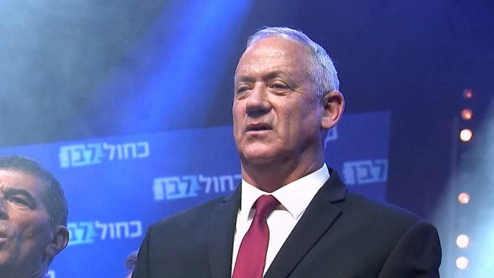 Benny Gantz se declara vencedor en las elecciones de Israel y rechaza la propuesta de Netanyahu de compartir el poder